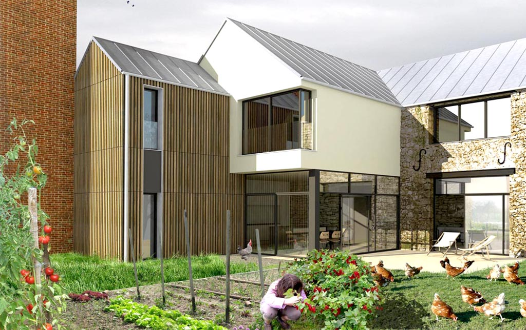 Stavy architectes paris logements maison la ferme for Architecte renovation maison