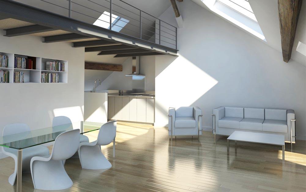 Stavy architectes paris logements r novation d 39 un - Finestre a soffitto ...